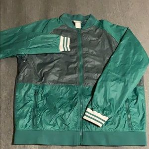 Nike two tone green varsity/ bomber type jacket.